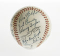 Autographs:Baseballs, 1980's Signed Baseball with Clem Labine. Fifteen various signatures adorn an Official American Association baseball. All a...