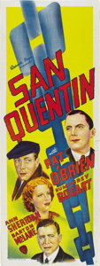 "Movie Posters:Drama, San Quentin (Warner Brothers, 1937). Australian Daybill (15"" X40""). ..."