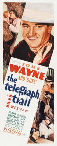 "Movie Posters:Western, The Telegraph Trail (Vitagraph, 1933). Insert (14"" X 36""). ..."