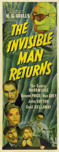 "Movie Posters:Horror, The Invisible Man Returns (Universal, 1940). Insert (14"" X 36"")...."