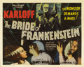 "Movie Posters:Horror, The Bride of Frankenstein (Universal, 1935). Half Sheet (22"" X 28""). ..."