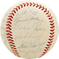 Autographs:Baseballs, 1958 Los Angeles Dodgers Team Signed Baseball. Leaving behind many thousands of distraught Brooklyn baseball fans, the Bums...