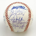 Autographs:Baseballs, 1993 Toronto Blue Jays World Champions Team Signed Baseball. Thisclean official 1993 World Series baseball has been signe...