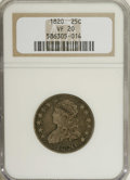 Bust Quarters: , 1820 25C Small 0 VF20 NGC. NGC Census: (5/84). PCGS Population (5/56). Mintage: 127,444. Numismedia Wsl. Price for NGC/PCGS...