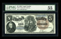 Large Size:Legal Tender Notes, Fr. 77 $5 1880 Legal Tender PMG About Uncirculated 55....