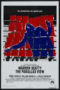 """The Parallax View (Paramount, 1974). One Sheet (27"""" X 41"""") Style B. Thriller. Starring Warren Beatty, Hume Cro..."""