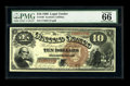 Large Size:Legal Tender Notes, Fr. 100 $10 1880 Legal Tender PMG Gem Uncirculated 66....