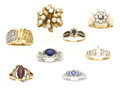 Estate Jewelry:Lots, Lot of Colored Diamond, Diamond, Multi-Stone, Gold Rings. ...(Total: 8 Items)