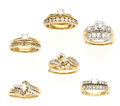 Estate Jewelry:Lots, Lot of Diamond, Gold Ring Sets. ... (Total: 6 Items)