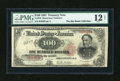 Large Size:Treasury Notes, Fr. 378 $100 1891 Treasury Note PMG Fine 12 Net....