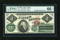 Large Size:Legal Tender Notes, Fr. 41 $2 1862 Legal Tender PMG Gem Uncirculated 66 EPQ....
