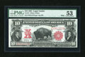 Large Size:Legal Tender Notes, Fr. 121 $10 1901 Mule Legal Tender PMG About Uncirculated 53....