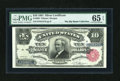 Large Size:Silver Certificates, Fr. 299 $10 1891 Silver Certificate PMG Gem Uncirculated 65 EPQ....