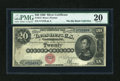 Large Size:Silver Certificates, Fr. 312 $20 1880 Silver Certificate PMG Very Fine 20....