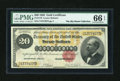 Large Size:Gold Certificates, Fr. 1178 $20 1882 Gold Certificate PMG Gem Uncirculated 66 EPQ....