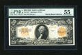 Large Size:Gold Certificates, Fr. 1187 $20 1922 Gold Certificate Star Note PMG About Uncirculated55....