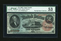 Large Size:Legal Tender Notes, Fr. 42 $2 1869 Legal Tender PMG About Uncirculated 53....
