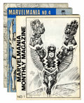 Memorabilia:Miscellaneous, Marvelmania #1, 4 and 5 (Marvelmania Intl., 1970) Condition:Average FN.... (Total: 3 Items)