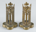 Decorative Arts, French:Other , A PAIR OF FRENCH LOUIS PHILIPPE BRASS CRUET HOLDERS. Circa 1840. 5inches (12.7 cm) high, each. ... (Total: 2 Items Items)