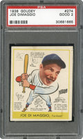 Baseball Cards:Singles (1930-1939), 1938 Goudey Joe Dimaggio #274 PSA Good 2....