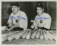 Autographs:Photos, Bill Dickey And Joe DiMaggio Dual Signed Photograph....