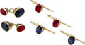 Estate Jewelry:Suites, Sapphire, Ruby, Gold Dress Set. ... (Total: 5 Items)