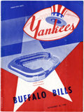 Football Collectibles:Uniforms, 1948 New York Yankees Signed Football Program. ...