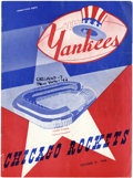 Football Collectibles:Others, 1948 New York Yankees Signed Football Program. ...