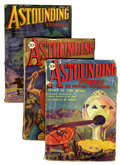 Pulps:Science Fiction, Astounding Stories Group (Street & Smith, 1930-36) Condition:Average GD.... (Total: 3 Items)