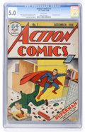 Golden Age (1938-1955):Superhero, Action Comics #7 (DC, 1938) CGC VG/FN 5.0 White pages....