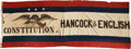 Political:Textile Display (pre-1896), Hancock & English: A Great, Colorful Banner for this Tough 1880Democratic Ticket. ...