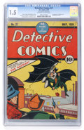 Golden Age (1938-1955):Superhero, Detective Comics #27 (DC, 1939) CGC FR/GD 1.5 Off-white to white pages....