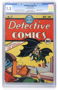 Detective Comics #27 (DC, 1939) CGC FR/GD 1.5 Off-white to white pages
