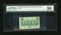 Fractional Currency:First Issue, Fr. 1312 50¢ First Issue PMG Choice About Unc 58....
