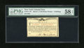 Colonial Notes:New York, New York March 5 , 1776 (Water Works) 8s PMG Choice About Unc 58 EPQ....