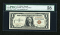 Small Size:World War II Emergency Notes, Fr. 2300 $1 1935A Hawaii Silver Certificate. PMG Choice About Unc 58.. ...