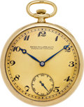 Timepieces:Pocket (post 1900), Patek Philippe Men's Gold Pocket Watch, circa 1925. ...
