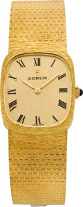 Timepieces:Wristwatch, Corum Men's Gold Wristwatch & Box, circa 1972. ...