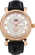 Timepieces:Wristwatch, Martin Braun Rose Gold Limited Edition Bigdate GMT Wristwatch. ...