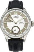 "Timepieces:Wristwatch, DuBois & Fils ""Reserve de Marche"" Men's Steel Wristwatch,modern. ..."