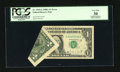 Error Notes:Foldovers, Fr. 1915-G $1 1988A Federal Reserve Note. PCGS Very Fine 30.. ...