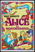 """Movie Posters:Animated, Alice in Wonderland (Buena Vista, R-1974). One Sheet (27"""" X 41"""")Flat-Folded. Animated.. ..."""