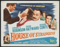 "Movie Posters:Film Noir, House of Strangers (20th Century Fox, 1949). Title Lobby Card (11"" X 14"") and Lobby Card (11"" X 14""). Film Noir.. ... (Total: 2 Items)"