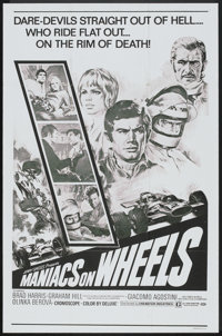 """Maniacs on Wheels (Cinemation Industries, 1970). One Sheet (27"""" X 41""""). Sports"""