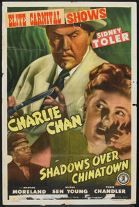 """Shadows over Chinatown (Monogram, 1946). One Sheet (27"""" X 41""""). Mystery"""