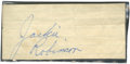Autographs:Others, Jackie Robinson Cut Signature....