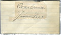Autographs:Others, Jimmie Foxx and Roger Cramer Signed Cut Signatures. ...