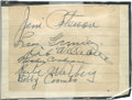 Autographs:Others, Mickey Cochrane and Others Signed Page. ...