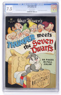 Golden Age (1938-1955):Cartoon Character, Four Color #19 Thumper Meets the Seven Dwarfs (Dell, 1943) CGC VF-7.5 Off-white pages....