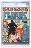 Golden Age (1938-1955):Miscellaneous, Feature Comics #59 Rockford pedigree (Quality, 1942) CGC VF/NM 9.0 Cream to off-white pages....